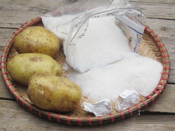 Nguyên liệu chuẩn bị làm mứt khoai tây ngon - cách làm mứt khoai tây