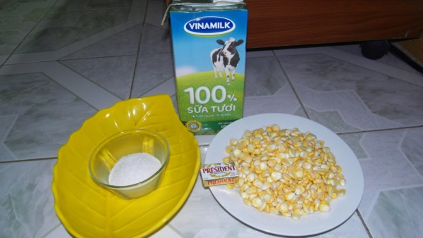 Cách làm sữa bắp ngon - nguyên liệu cần chuẩn bị