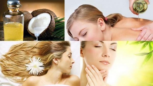 Dưỡng trắng toàn thân với dầu dừa và muối tắm - làm đẹp từ dầu dừa