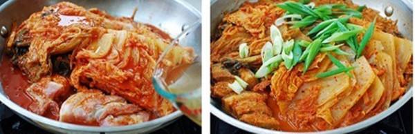 Cách làm kim chi thịt kho Hàn Quốc - kim chi kho thịt