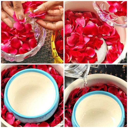 cach lam nuoc hoa hong - Nguyên liệu làm nước hoa hồng tại nhà