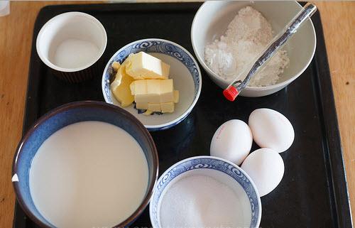 Cách làm bánh su kem - các nguyên liệu cần chuẩn bị để làm bánh su kem ngon