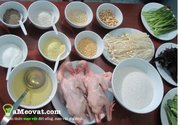 Nguyên liệu nấu cháo chim bồ câu - chao chim bo cau