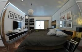 Tư vấn bố trí nội thất phòng ngủ dài và hẹp cho gia đình 4 người