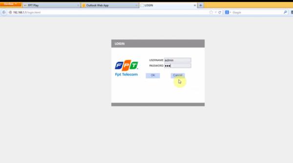 Cách đổi mật khẩu wifi - đăng nhập vào admin