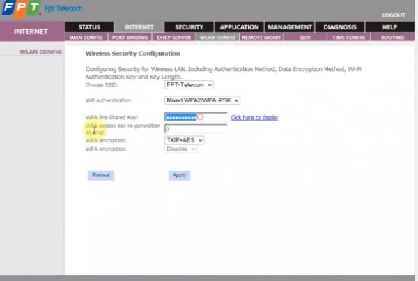 Cách đổi mật khẩu wifi - đổi pass modem wifi fpt