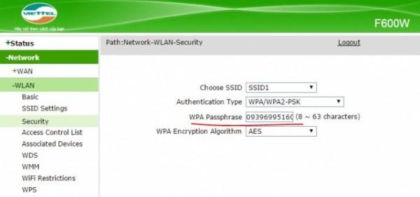 Cách đổi mật khẩu wifi - thay đổi mật khẩu wifi