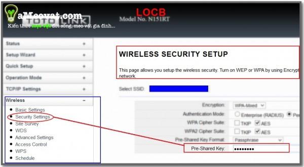Cách đổi mật khẩu wifi - đổi mật khẩu wifi bằng Totolink