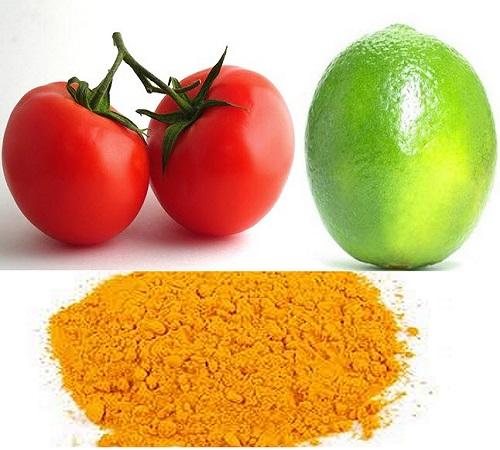 Cách trị thâm quầng mắt bằng chanh, cà chua và bột nghệ - cách trị thâm mắt