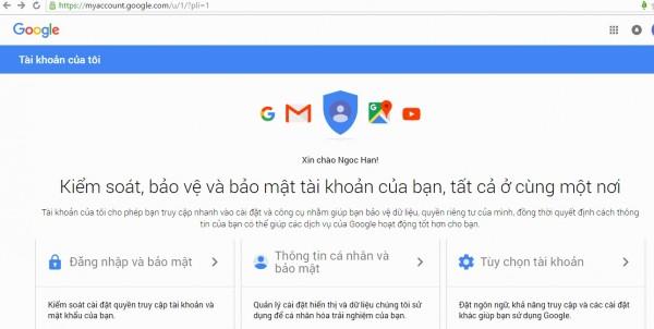 Đăng ký gmail miễn phí - Cửa sổ kiểm tra bảo mật thông tin tài khoản