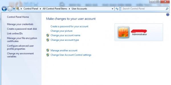 Cách cài mật khẩu máy tính - Cửa sổ cài đặt mật khẩu máy tính