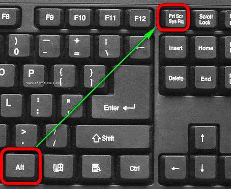 Cách chụp màn hình máy tính - Nhấn tổ hợp phím Alt + Print Screen