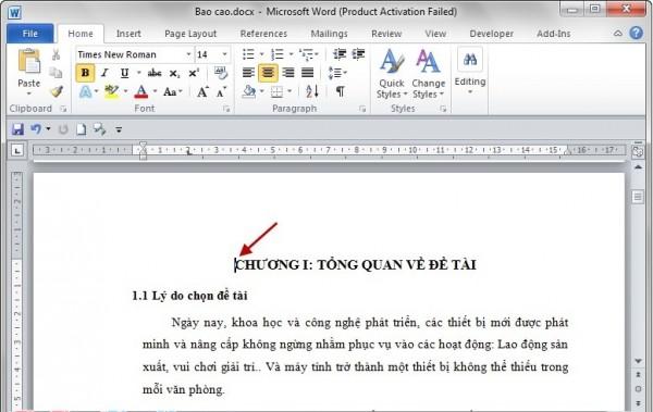 Cách đánh số trang trong word ở vị trí bất kỳ - Đặt trỏ chuột vào đầu trang word