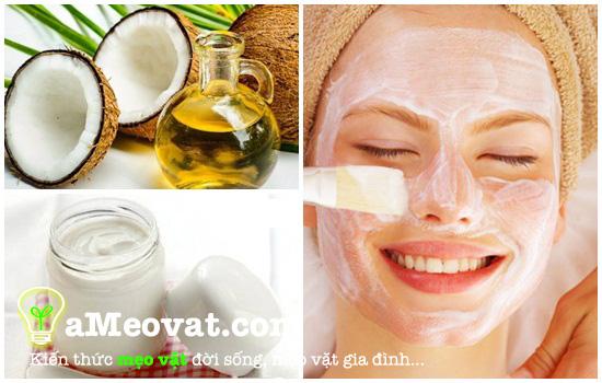 Cách đắp mặt nạ dầu dừa nguyên chất nga tại nhà - làm đẹp da mặt