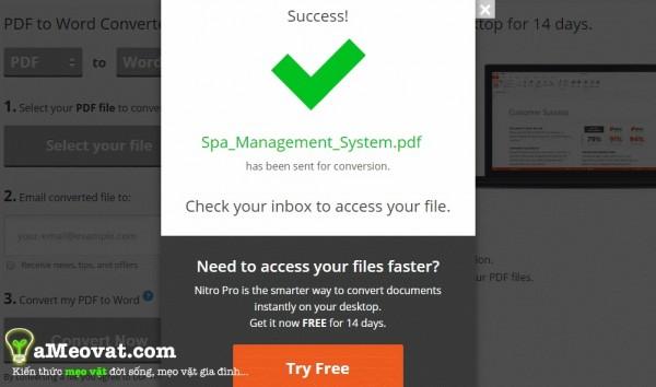 Cách chuyển đổi file pdf sang word - Chuyển đổi pdf sang word thành công