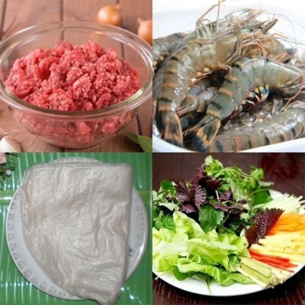 Nguyên liệu cần có cho món nem nướng - cách làm nem nướng nha trang