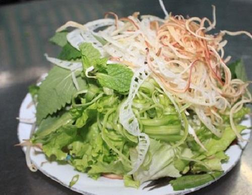 Cách nấu bún ốc hà nội - Các loại rau ăn kèm với bún ốc