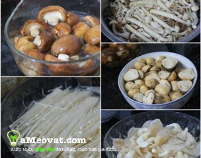 Cách nấu lẩu nấm - Các loại nấm dùng để nấu lẩu