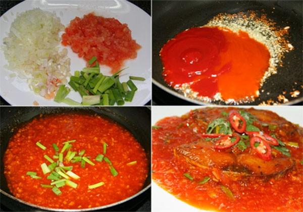 Làm sốt cà chua và sốt cá - cách làm cá sốt cà chua