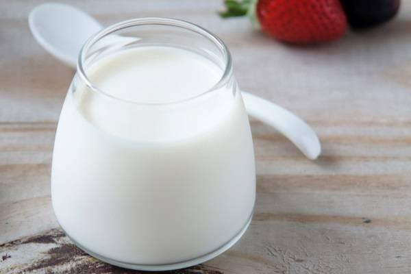 Sữa tươi không đường - cách làm hoa quả dầm