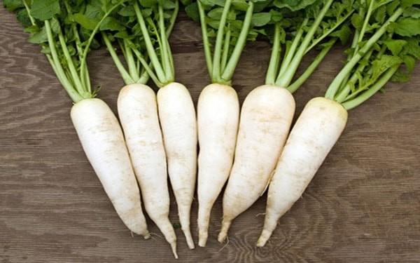 Củ cải trắng - cách thực hiện mì cay hàn quốc