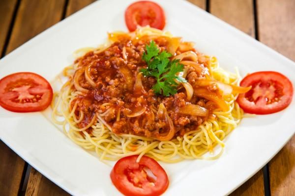 Món Spaghetti sau khi hoàn thiện - cách làm mì Spaghetti