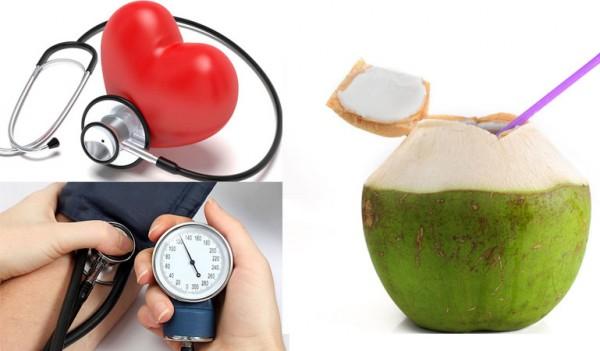 Hệ tim mạch, huyết áp ổn định hơn nhờ nước dừa - cong dung cua nuoc dua