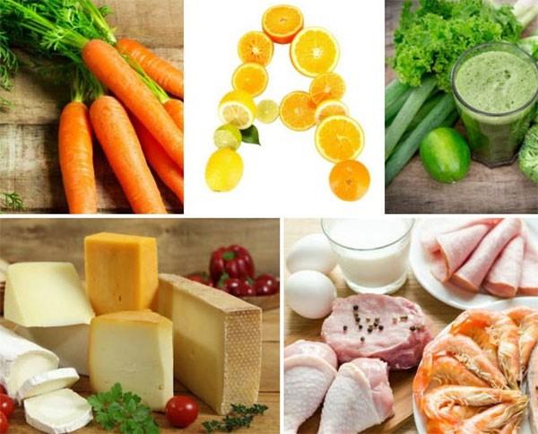 Các thực phẩm chứa nhiều vitamin nhóm a - tác dụng của vitamin a
