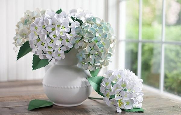 Bình hoa cẩm tú cầu đẹp - cách cắm hoa để bàn