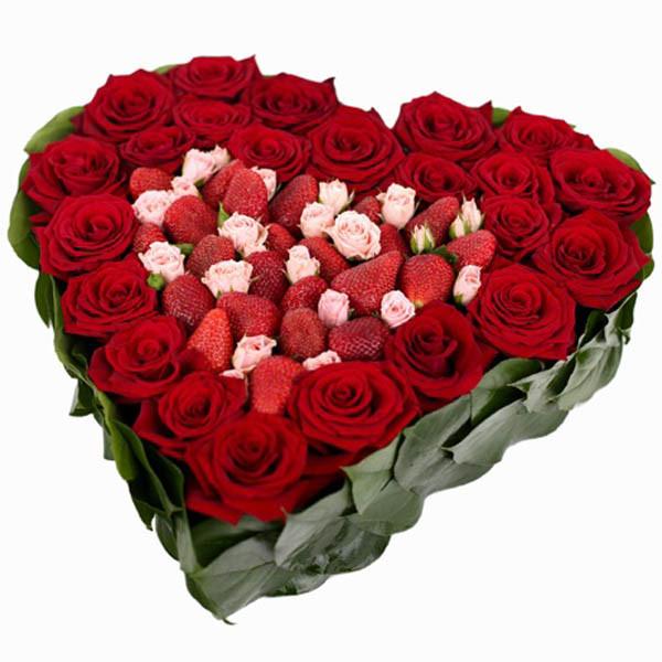 Hoa hồng hình trái tim - cách cắm hoa hồng đẹp