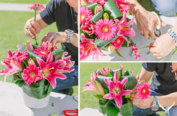Cắm hoa ly để bàn - cách cắm hoa ly để bàn thờ