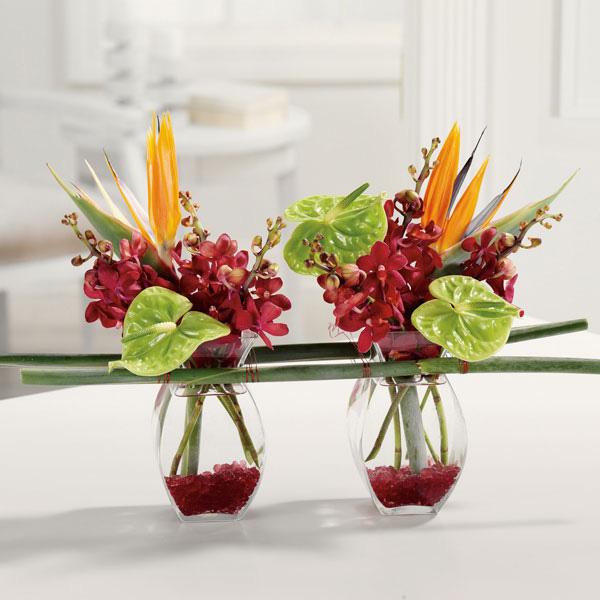 Bình hoa thiên điểu - dạy cách cắm hoa ngày tết - nghệ thuật cắm hoa ngày tết