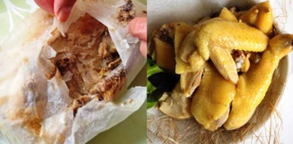 Món gà hấp chung với muối - cách làm gà hấp muối