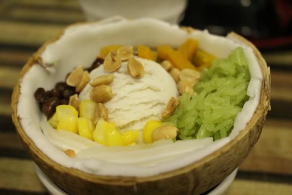 Món kem xôi dừa - cách làm kem xôi dừa