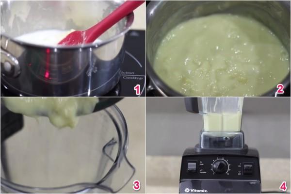 Xay sầu riêng và sữa - cach lam kem sau rieng