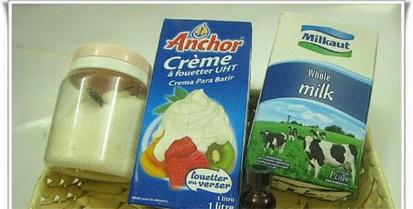 Phần đường sữa để làm kem - cách làm kem bơ đà lạt