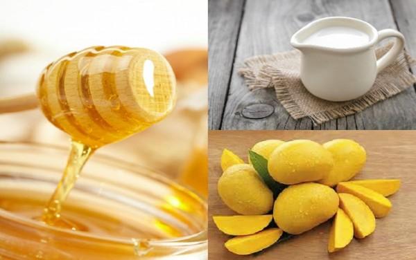 Nguyên liệu làm sinh tố xoài với sữa chua mật ong - làm sinh tố xoài