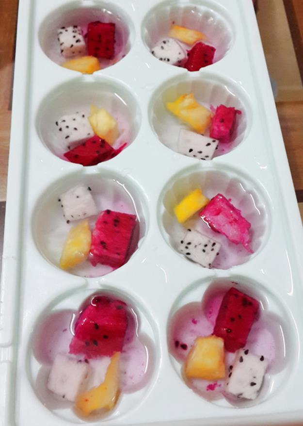 Đổ khuôn thạch - cách làm thạch hoa quả