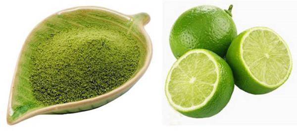 Bột trà xanh và chanh tươi - cach lam thach nha dam