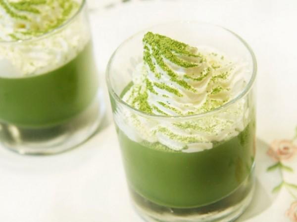 Thạch nha đam trà xanh - làm thạch nha đam