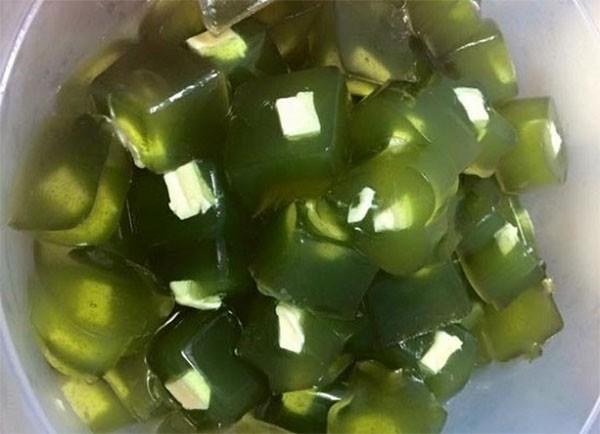 Thạch rau câu trà xanh phô mai - cách làm thạch phô mai trà xanh