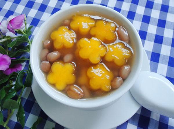 Chè bí đỏ đậu phộng - che bi do