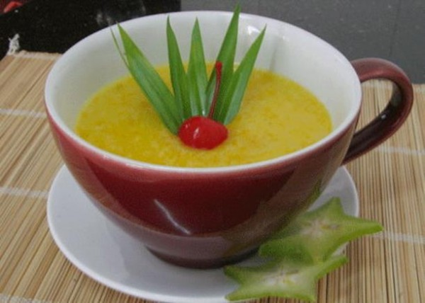 Chè bí đỏ gạo nếp - cách nấu chè bí đỏ