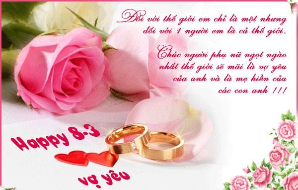 Gửi lời yêu thương tới những người vợ - những lời chúc 8 3 hay ý nghĩa nhất