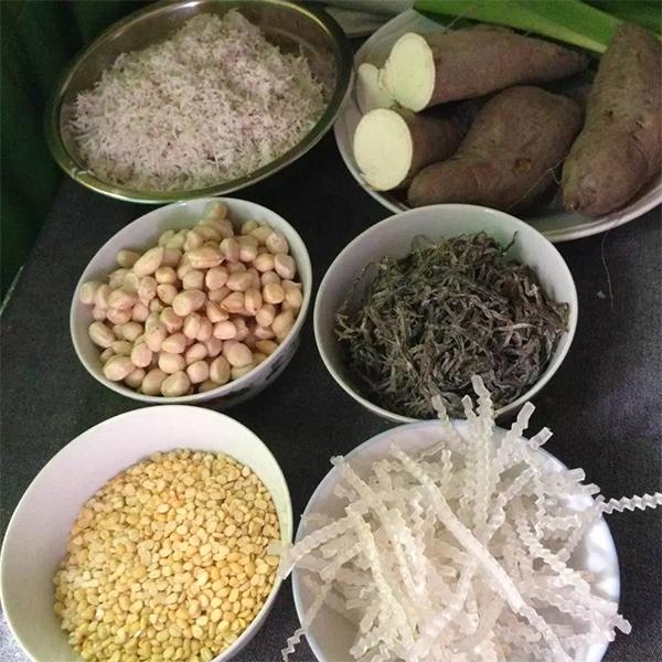 Những nguyên liệu chính cần có - cách nấu chè bà ba ngon