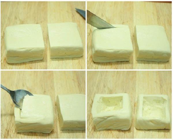 Chuẩn bị đậu - cach lam dau nhoi thit