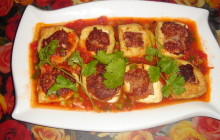 Cách làm đậu nhồi thịt rán, sốt cà chua siêu ngon