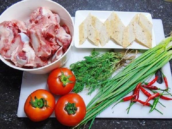 Các nguyên liệu khác để nấu bún cá - cách nấu bún cá hà nội