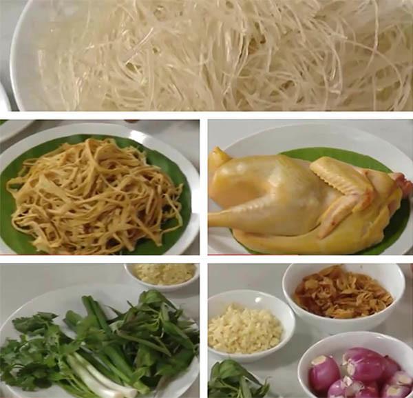 Các nguyên liệu chính nấu miến gà cần chuẩn bị - cách nấu miến gà ngon