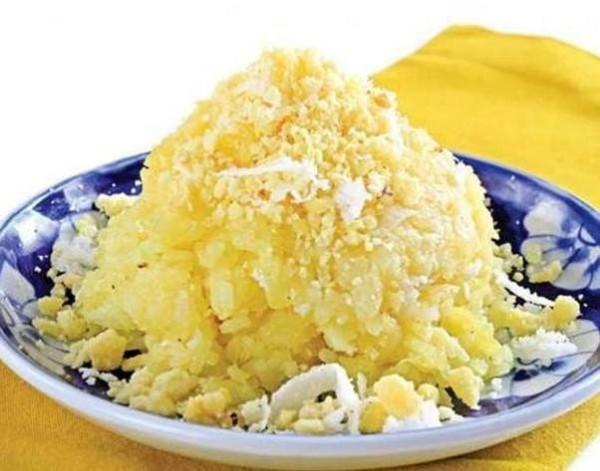 Món xôi dừa đậu xanh sau khi đã hoàn thành xong - cách nấu xôi dừa đậu xanh
